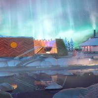 Концепция туристического кластера в с. Оймякон, Республика Саха (Якутия). Банный комплекс. BAZA14 и др.