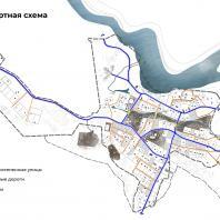 Концепция туристического кластера в с. Оймякон, Республика Саха (Якутия). Транспортная схема. BAZA14 и др.