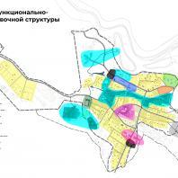 Концепция туристического кластера в с. Оймякон, Республика Саха (Якутия). Схема функционально-планировочной структуры. BAZA14 и др.