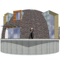 Проект «Круглый дом». Архитектурно-художественная мастерская «Красная горка». Архитектор: Арбатский Г.П. Новосибирск