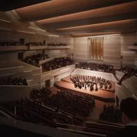 Проект концертного зала Tauras в Вильнюсе | Главный концертный зал | Orange architects, 2019