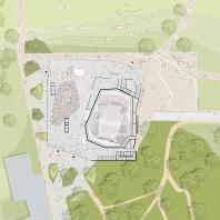 Проект концертного зала Tauras в Вильнюсе | Уровень первого этажа | Orange architects, 2019