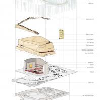 Проект концертного зала Tauras в Вильнюсе | Аксонометрия | Orange architects, 2019