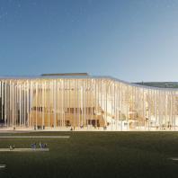 Проект концертного зала Tauras в Вильнюсе, Orange architects, 2019
