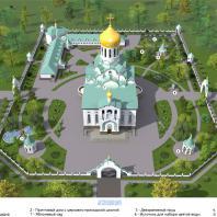 Проект храмового комплекса в г. Краснодар. Архитекторы: Яргунина А.О., Пронько Е.В.