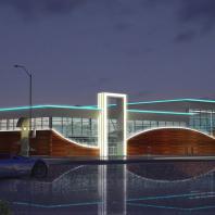 Проект аквапарка «Волна». Проектная организация: «АкадемСтрой». Новосибирск