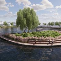 Концепция благоустройства территории, прилегающей к озеру в районе ул. Хандадаша Тагиева в Дербенте. Консорциум под лидерством ООО «МЭГЛИ Проект»