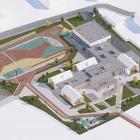 Конкурсный типовой проект общеобразовательной школы на 50 мест в с. Манасаул Буйнакского района Дагестана. AKVK&Partners