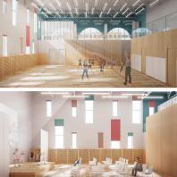 Конкурсный типовой проект детского сада на 40 мест в с. Цергимахи Акушинского района Дагестана. Консорциум под лидерством ООО «АМОС»