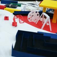"""«Супрематизм». Детская спортивно-игровая площадка. Детская школа архитектуры и дизайна """"IVANDI"""""""