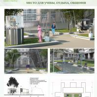 Конкурсный проект «Оформление рекреационных зон отдыха в университете». 2018 г. Код проекта: 110817