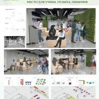 Конкурсный проект «Оформление рекреационных зон отдыха в университете». 2018 г. Код проекта: 228358