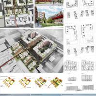 787878. М.А. Новоселова (Москва). Конкурс на проект жилого комплекса «Красная площадь» в Ижевске