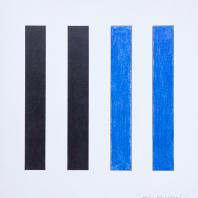 Владимир Андреенков. Две голубые вертикали no.3. 1971