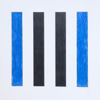 Владимир Андреенков. Две голубые вертикали no.2. 1971