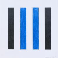 Владимир Андреенков. Две голубые вертикали no.1. 1971