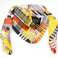 Шелковый платок «Ячейка F». Дизайн-студия Baklazanas