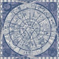 Шелковый платок «Новая Москва». Дизайн-студия Baklazanas