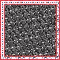 Шелковый платок «ЦЕХ». Дизайн-студия Baklazanas