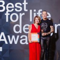 Международная Премия «Best for Life Design». 8 ноября 2019. Карим Рашид и директор по маркетингу сети Л'Этуаль Офелия Шафир