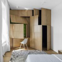 Квартира с видом на Гребной канал. KASHINARCHITECTS + MONOLOKO design/ Максим Кашин. Диплом в номинации «Реализованный жилой интерьер. Квартира до 100 кв. м.»
