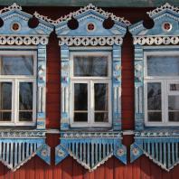 Наличники крестьянских домов в Шуйском районе (Ивановская область)
