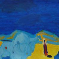 Борис Карафёлов. Бедуины. В голубом просторе. 2004 г. бумага, акрил