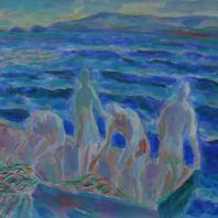 Борис Карафёлов. Ловля рыбы в Нахшолим. 2004 г.
