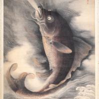 Превращение рыбы в дракона. Отшельник У Ци по прозвищу Сюэ я шань жэнь. XVIII век