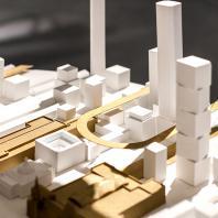 Проект «Зал ожидания будущего» – прогноз архитектурного бюро Citizenstudio относительно изменений, которые должны произойти с городами и железнодорожным транспортом в будущем. Макеты мастерской STUDIO 911