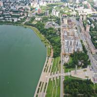 Центральная эспланада Ижевска. Фото 2020 г. Съемка предоставлена А. Н. Зориным