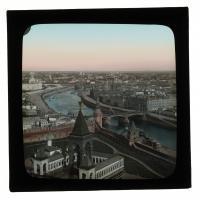 Вид на Москву и памятник Александру II c колокольни Ивана Великого. Диапозитив Карла Элофа Берггрена