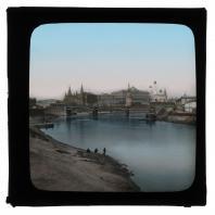 Вид на Кремль от набережной Москвы-реки. Диапозитив Карла Элофа Берггрена