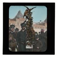 Вербный торг на Красной площади. Диапозитив Карла Элофа Берггрена