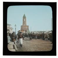 Воскресный торг у Сухаревой башни. Диапозитив Карла Элофа Берггрена