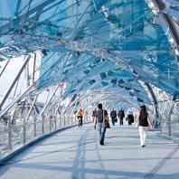 Cox Architects: The Helix Bridge, Marina Bay, Singapore