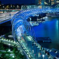 Cox Architects: The Helix Bridge, Marina Bay, Singapore