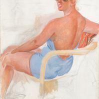 Александр Дейнека. Женский портрет, 1950-гг.