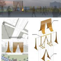 Конкурс на проект архитектурного объекта из дерева «Знак». Авторы: Катерина Пестрякова, Анастасия Кирикова