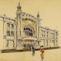 Театр в доме В.Н. Гирш. Проект фасада. И.А. Иванов-Щиц. 1899