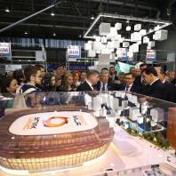Международный форум и выставка высотного и уникального строительства 100+ Forum Russia 2018. Фото: Донат Сорокин, Марина Молдавская/ТАСС