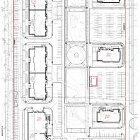 Генплан территории проектирования с границами конкурсной территории. Жилой комплекс «Самоцветы Востока». Ижевск