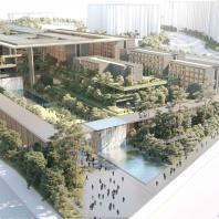 Многоуровневый комплекс с общественным паркингом (Корея, Сеул), studioMilou