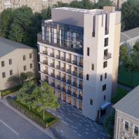 Гостиница с апартаментами в Электрическом переулке. «Алексей Бавыкин и партнеры»
