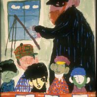 Григорий Ингер. Из еврейской народной поэзии. «Нигун» 1972 г. Бумага, тушь. 61,5х43.