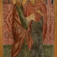 Иоаким и Анна с жертвенным барашком. Фресковая живопись Троице-Макарьева монастыря