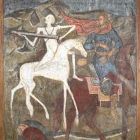 Конь бледный и вороной (всадник Апокалипсиса). Фресковая живопись Троице-Макарьева монастыря