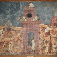Строительство Вавилонской башни. Фресковая живопись Троице-Макарьева монастыря