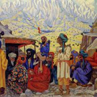 Николай Карахан. Аул в горах
