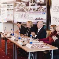 Пресс-конференция посвящённая результатам открытого архитектурного конкурса с международным участием «Квартал XXI века». 10 ноября 2016 г.